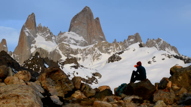 hiking in patagonia - south america travel stock videos and b-roll footage