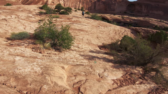 POV hiking in the Colorado plateau: Corona arch near Moab