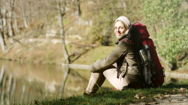 Hiking woman video