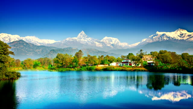 Himalaya mountains and lake video