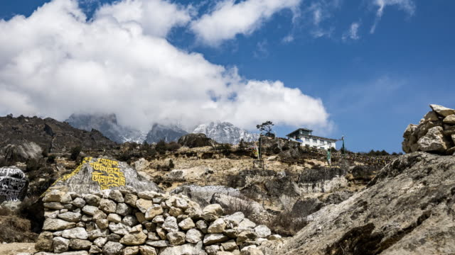 Himalayan mountain range in Namche Barzaar,Nepal. video