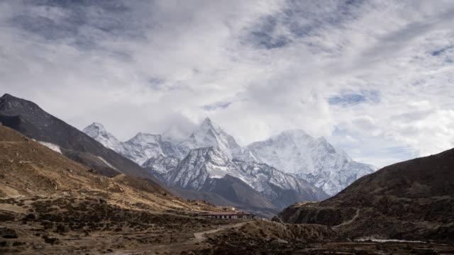 Himalayan mountain range in Nepal.Mera mountain,Island peak mountain and Ama Dablam mountain. video