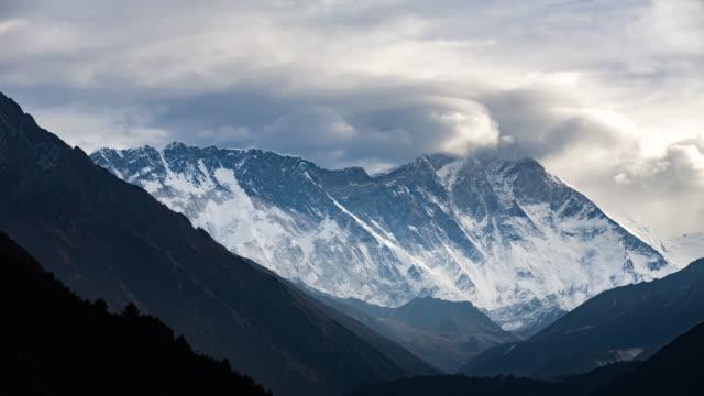 Himalayan mountain range in Nepal.Nuptse mountain,Everest mountain and Ama Dablam mountain. video