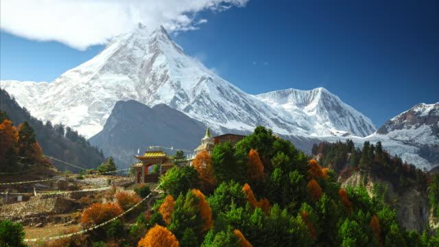 ヒマラヤ山脈の風景。タイムラプス。 - ネパール点の映像素材/bロール
