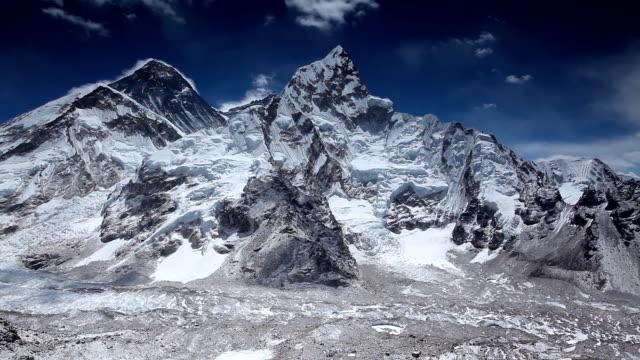 Himalayas mountain range on beautiful sunny day video
