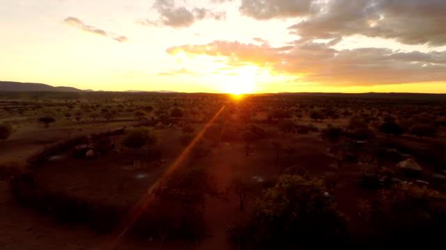 HELI Himba Village At Sunset video