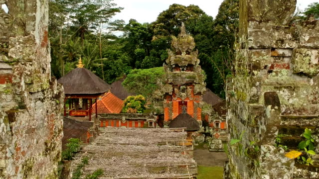 vídeos y material grabado en eventos de stock de templo hindú en bali, indonesia - hinduismo