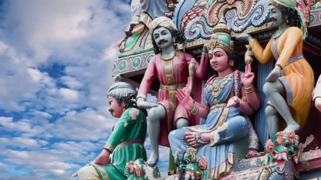 hindu temple - ancient architecture stock videos & royalty-free footage