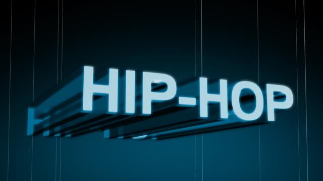 hip hop gatunki muzyczne nagłówek - zachodnie pismo filmów i materiałów b-roll