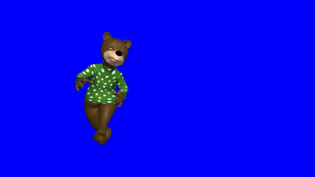 hip/hop bear dancing on bluescreen - bear stock videos and b-roll footage