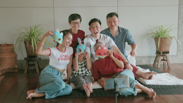 Hipster family multigeneration-stock video video