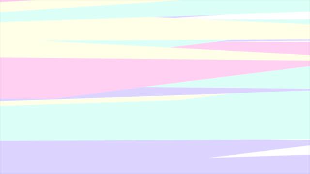 流行に敏感なレトロ パステル抽象ストライプ ビデオ アニメーション - ピンク色点の映像素材/bロール