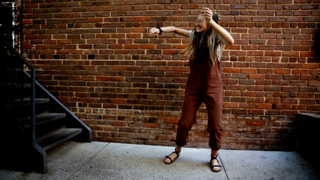 Hipster Young Woman Dancing