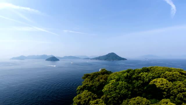 hiroshima boats & islands - hiroshima stok videoları ve detay görüntü çekimi