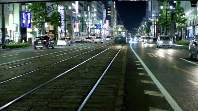hiroshima street traffic - hiroshima stok videoları ve detay görüntü çekimi
