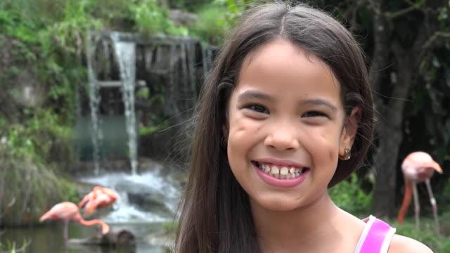 Hispanic Girl Near Waterfall video