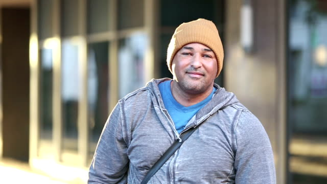 Hispanic man in the city