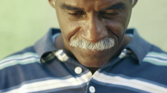 Hispanic man with mustache smiling video