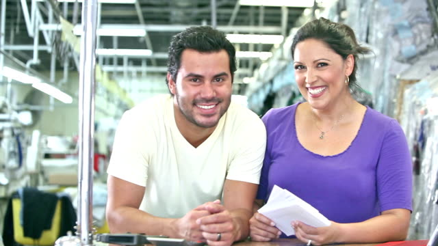 Hispanic small business owners - dry cleaners video