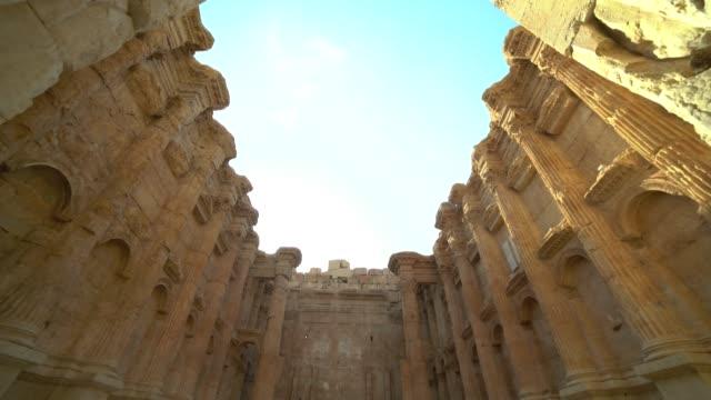 黎巴嫩巴勒貝克的歷史古羅馬巴克斯神廟 - lebanon 個影片檔及 b 捲影像
