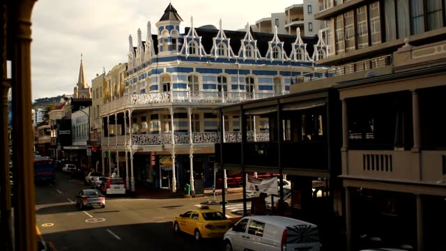 Historic building in Long street, Cape Town, South Africa in late afternoon video