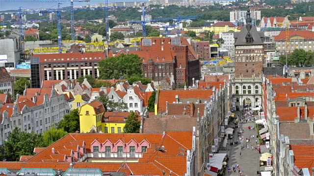 Historic center of city-port Gdansk in Poland video