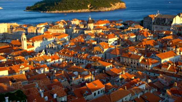 historic city of dubrovnik old town, croatia. - obiekt światowego dziedzictwa unesco filmów i materiałów b-roll