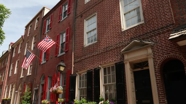Historic Elfreth's Alley in Philadelphia Pennsylvania USA