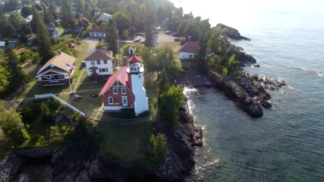 Historic lighthouse of Michigan's Keweenaw peninsula video