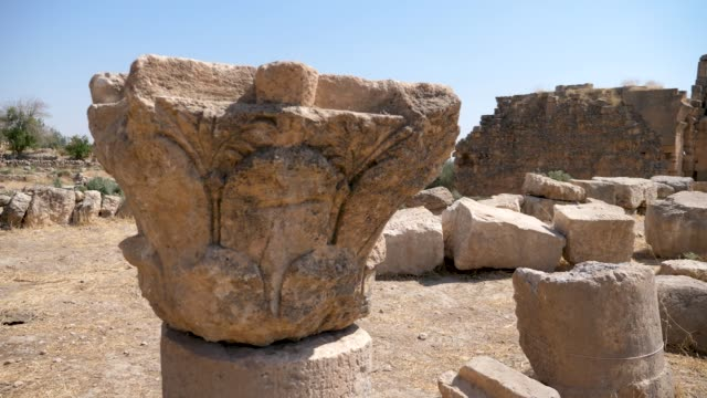 A historic stone with inscriptions A historic stone with inscriptions in Mesopotamia , Mardin mardin stock videos & royalty-free footage