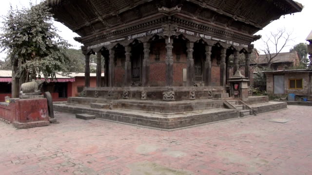 historical abandoned architecture in Katmandu,Nepal video