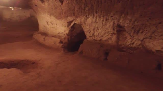 historiska agirnas underjordiska stadsarkitekt mimar sinans födelseplats kayseri kayseri/turkiet 11/23/2014 - anatolien bildbanksvideor och videomaterial från bakom kulisserna