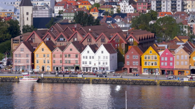 Historical buildings in Bryggen video