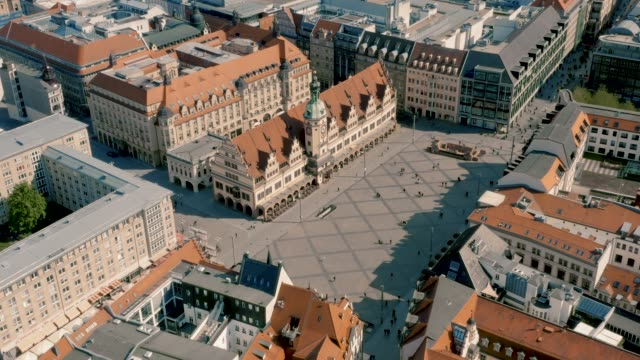 Historical market square in Leipzig
