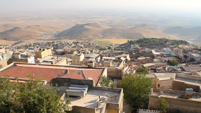 Historical old Mardin city panoramic view. Turkey