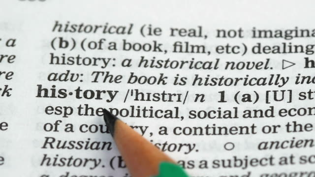 History, definition in english dictionary, countries state during time, subject History, definition in english dictionary, countries state during time, subject extreme close up stock videos & royalty-free footage