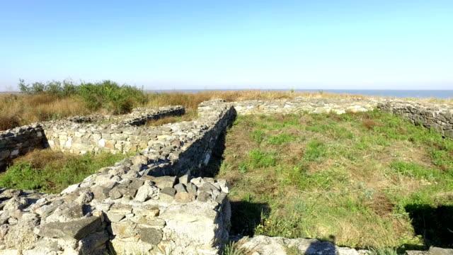 histria fortress sunny day - męczennik filmów i materiałów b-roll