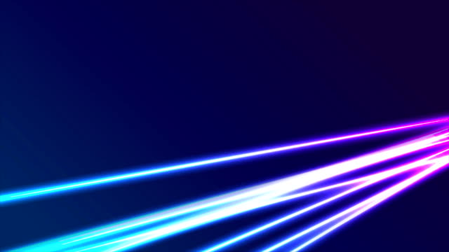 Hi-tech futuristic neon laser rays abstract video animation