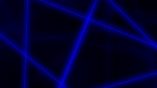 vídeos de stock e filmes b-roll de hi-tech motion background. abstract blue lines crossings. fullhd seamless loop clip - reto descrição física
