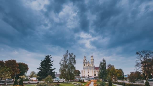 Hlybokaye Or Glubokoye, Vitebsk Region, Belarus. Church Of Sts. Trinity In Evening