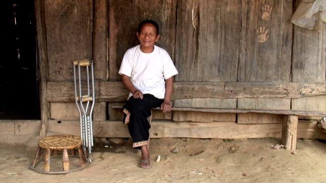 Hmong Man Amputee HD video