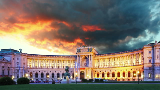 Hofburg Imperial Palace - Vienna, Austria, Time lapse video