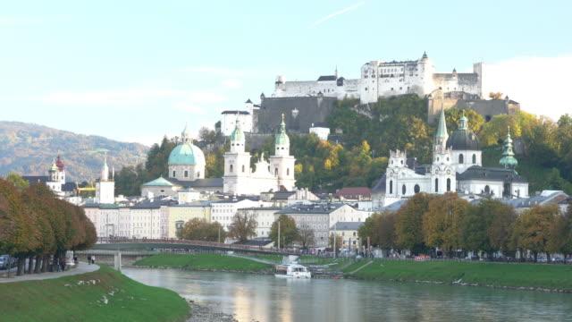 festung hohensalzburg salzburg österreich - salzburg stock-videos und b-roll-filmmaterial