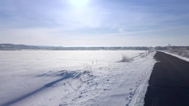 Hokkaido of snow views from car window Hokkaido of snow views from car window paddock stock videos & royalty-free footage