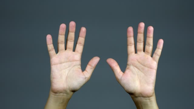 holding hands raised to show surrender - palm of hand stock videos & royalty-free footage