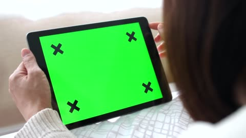 Holding Tablet with Green Screen - Horizontal woman, digital tablet digital tablet stock videos & royalty-free footage