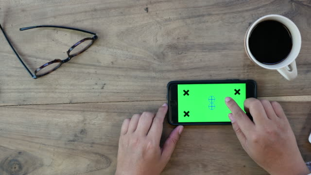 Holding Touchscreen Device, Top view video