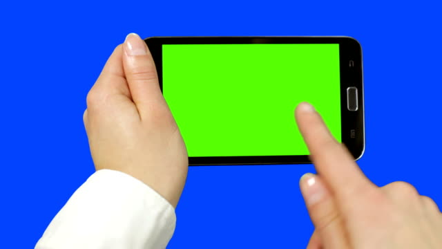 Holding Touchscreen Device video