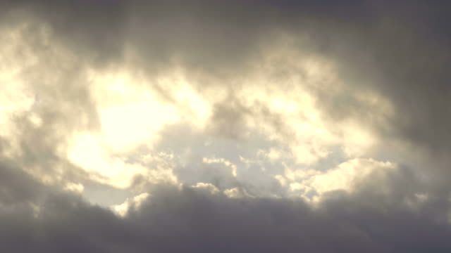 Hole in the clouds at morning video