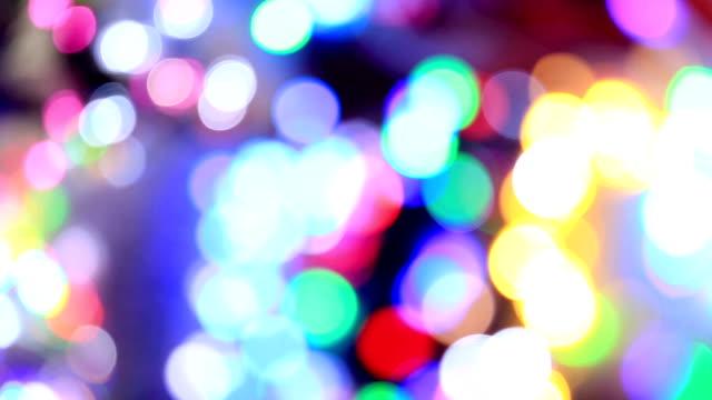 ホリデー ライトの背景のボケ味 - 柄点の映像素材/bロール